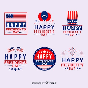 Set de etiquetas del día del presidente