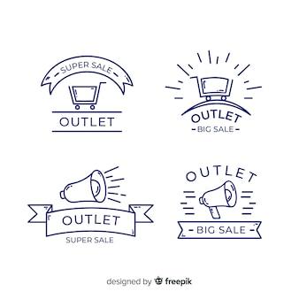 Set de etiquetas de outlet