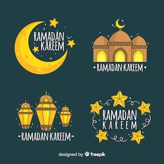 Set de etiquetas de ramadán