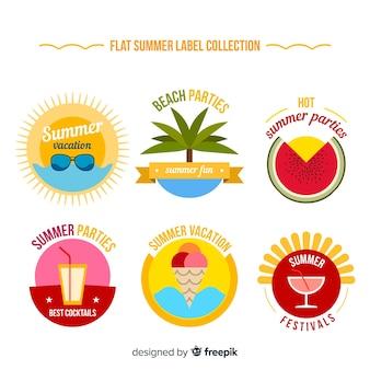 Set de etiquetas de verano