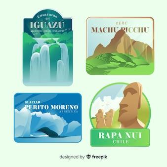 Set de etiquetas de viaje