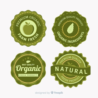 Set etiquetas vintage fruta orgánica