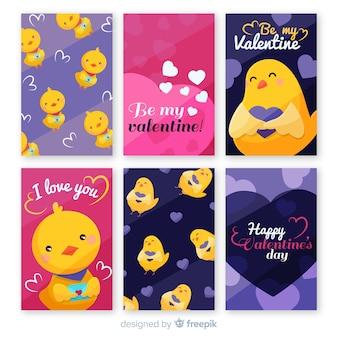 Set de felicitaciones de san valentín