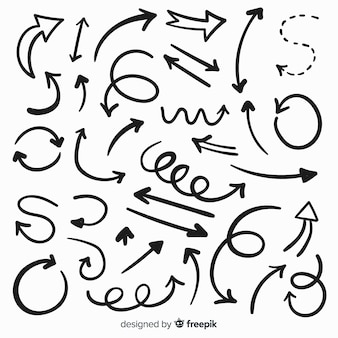 Set de flechas decorativas dibujadas
