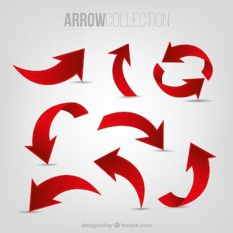 Set de flechas rojas