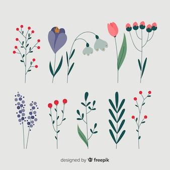 Set floral de invierno