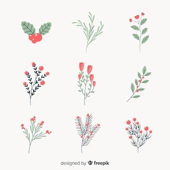 Set de flores de invierno