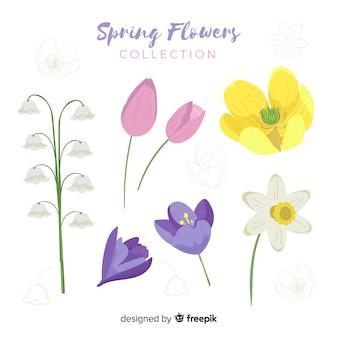 Set de flores primaverales
