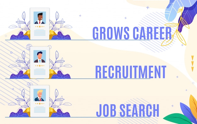 Set flyer grows career recruitment job search.