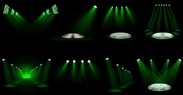 Set de focos de efectos de luz.