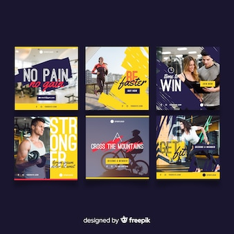 Set de folletos deportivos