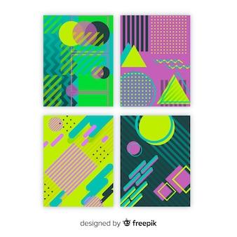 Set folletos estilo memphis