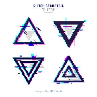Set de formas geométricas de glitch