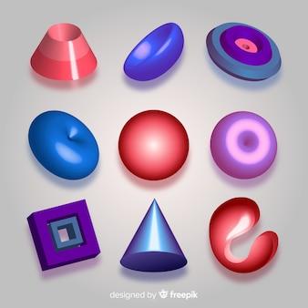 Set de formas geométricas tridimensionales