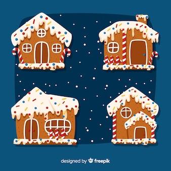 Set de galletas de jengibre en forma de casa