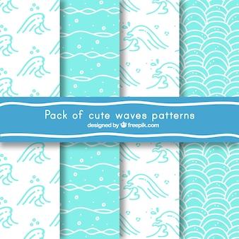 Set de geniales patrones de olas
