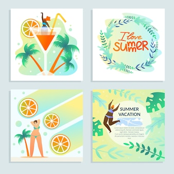Set girl and citrus amo el verano, las mejores vacaciones.