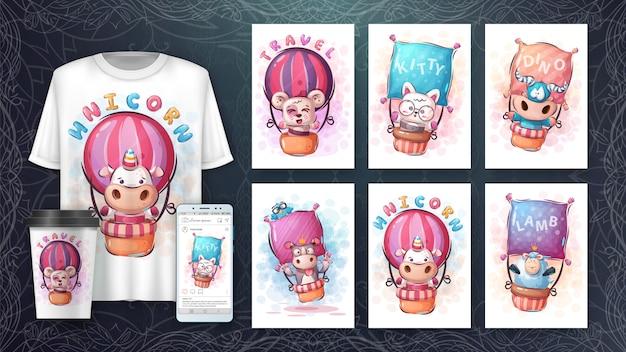 Set de globos aerostáticos - póster y merchandising
