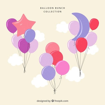 Set de globos coloridos