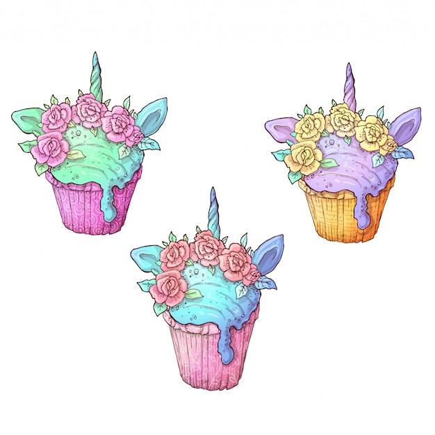 Set helado unicornio