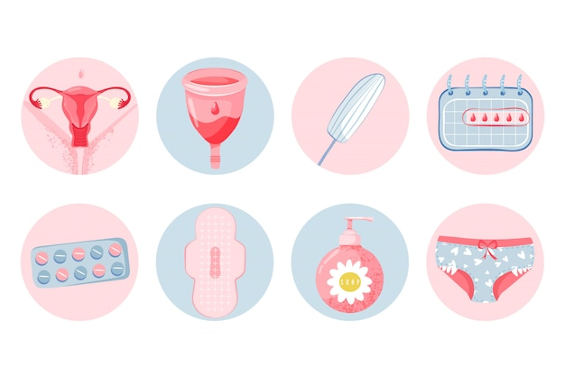 Set de higiene femenina con copa menstrual