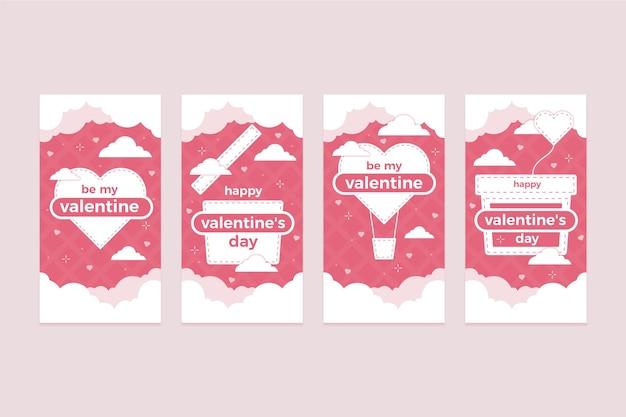 Set de historia de san valentín