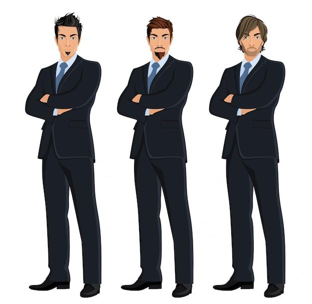 Set de hombres de negocios a color