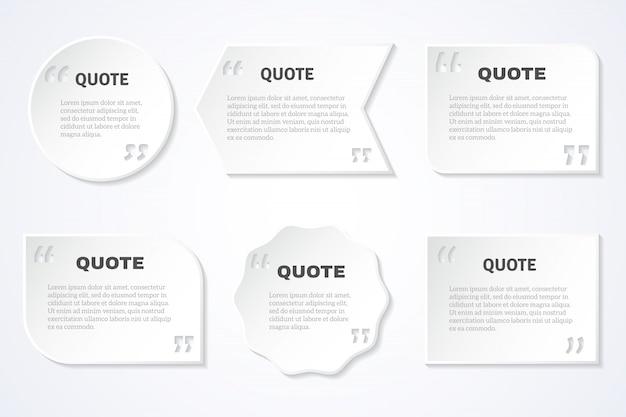 Set de iconos de citas de sabiduría sin tiempo