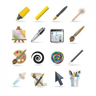 Set de iconos de diseñador