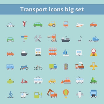 Set de iconos de transporte