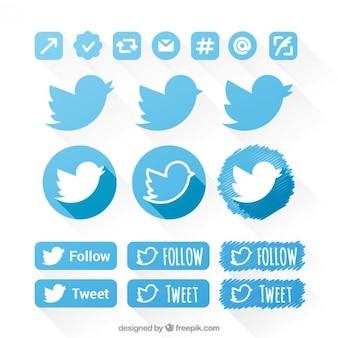 Set de iconos de twitter