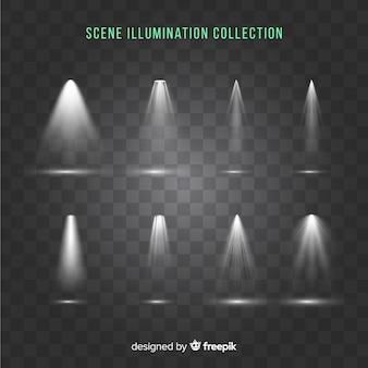 Set de iluminaciones de escena
