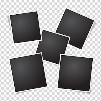 Set de imágenes de fotografías polaroid