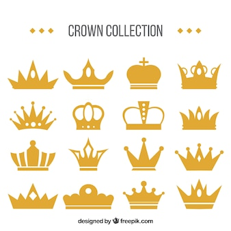 Set impresionante de coronas decorativas