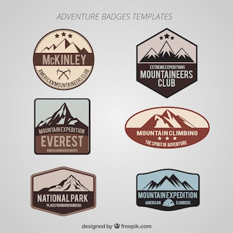 Set de insignias de aventuras