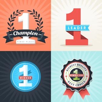 Set de insignias de campeón