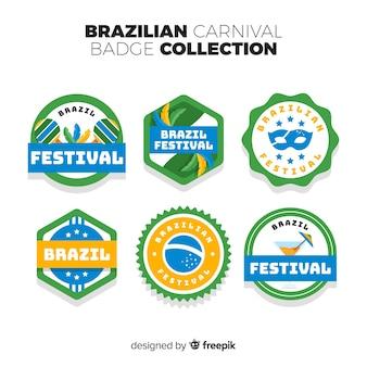 Set de insignias de carnaval de brasil
