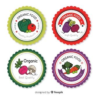 Set de insignias de comida orgánica