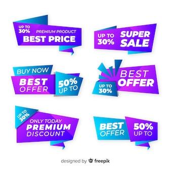 Set de insignias de compras