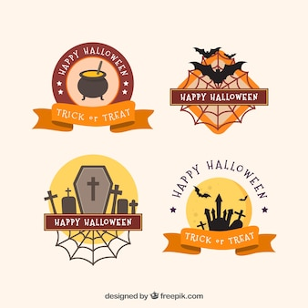 Set de insignias decorativas de halloween