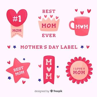 Set de insignias del día de la madre