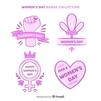 Set de insignias del día de la mujer