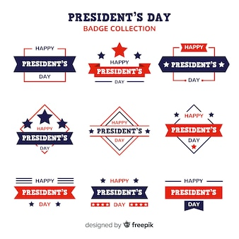 Set de insignias del día del presidente