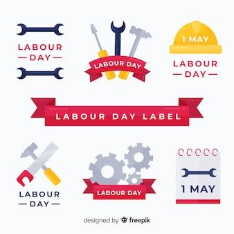 Set de insignias del día del trabajo