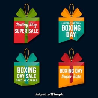 Set de insignias de dompras de boxing day