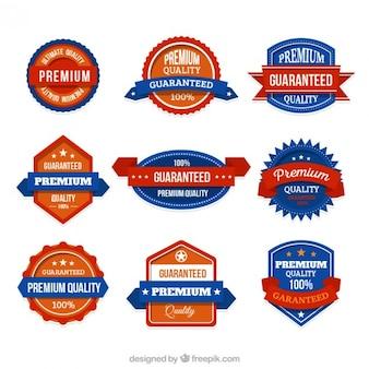 Set de insignias de garantía