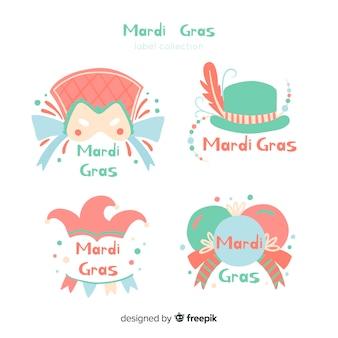 Set de insignias de mardi grass
