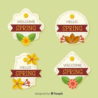 Set de insignias de primavera