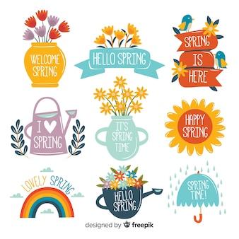 Set de insignias primaverales