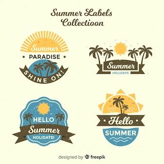 Set de insignias veraniegas